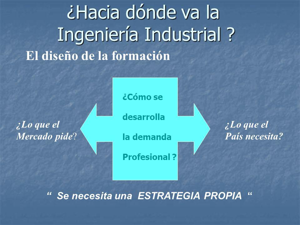 ¿Hacia dónde va la Ingeniería Industrial