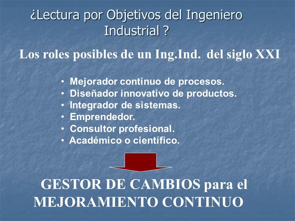 ¿Lectura por Objetivos del Ingeniero Industrial