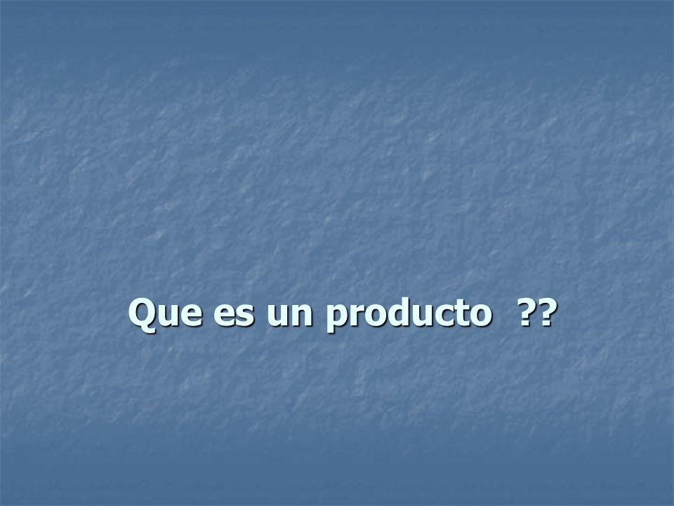 Que es un producto
