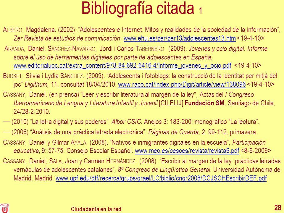 Bibliografía citada 1