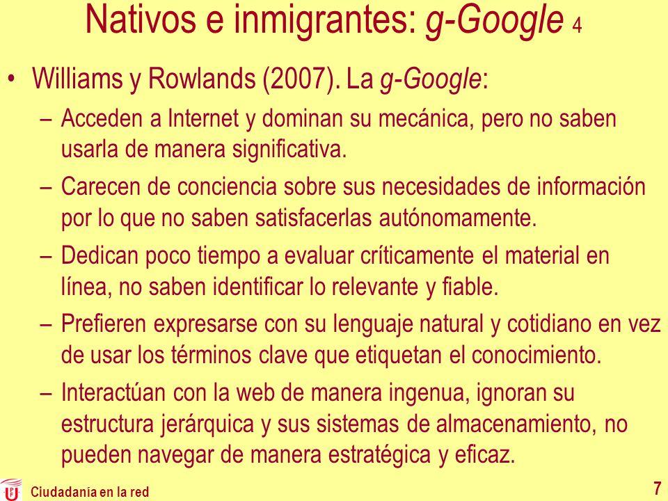 Nativos e inmigrantes: g-Google 4
