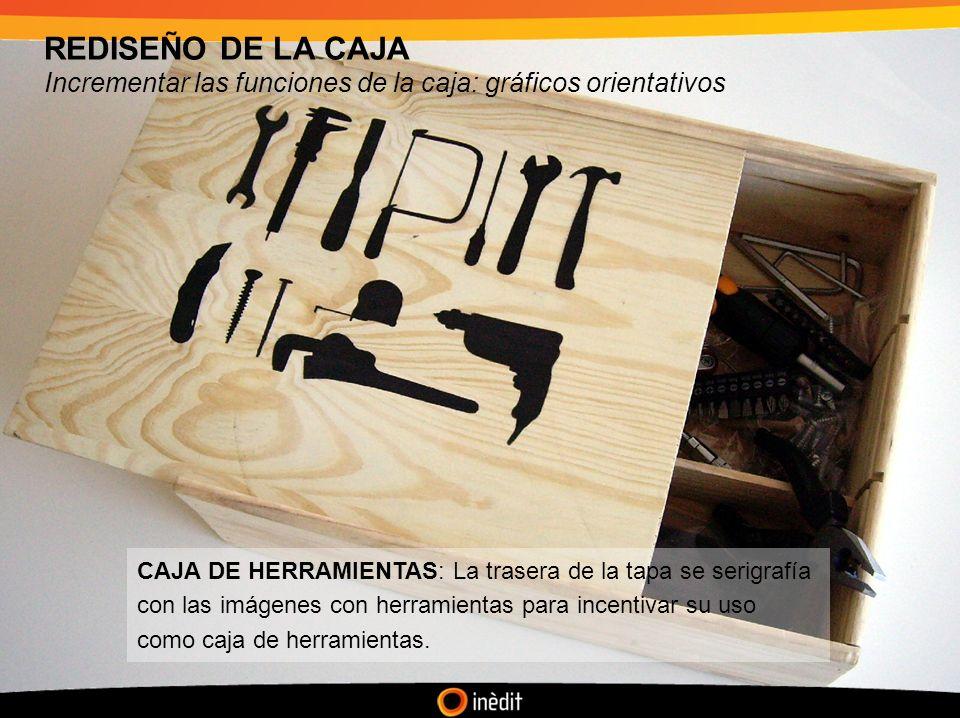 REDISEÑO DE LA CAJA Incrementar las funciones de la caja: gráficos orientativos.