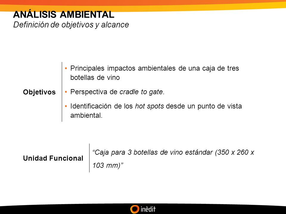 ANÁLISIS AMBIENTAL Definición de objetivos y alcance