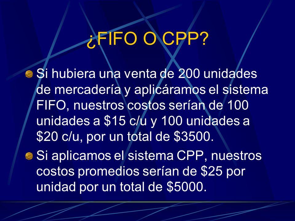 ¿FIFO O CPP