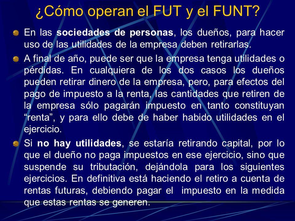 ¿Cómo operan el FUT y el FUNT