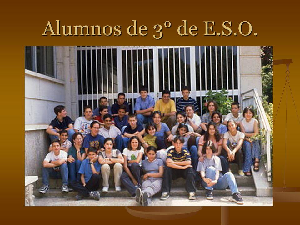 Alumnos de 3° de E.S.O.