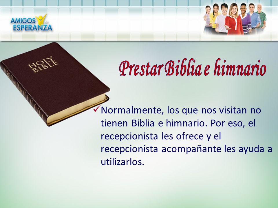 Prestar Biblia e himnario