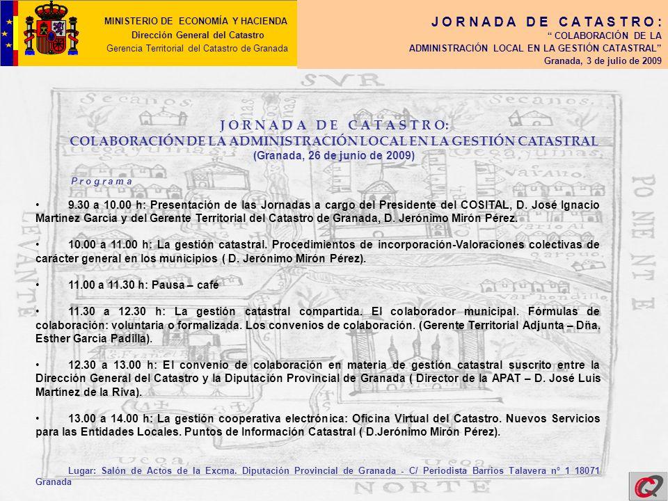 COLABORACIÓN DE LA ADMINISTRACIÓN LOCAL EN LA GESTIÓN CATASTRAL