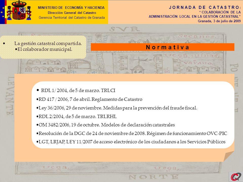 N o r m a t i v a RDL 1/ 2004, de 5 de marzo. TRLCI