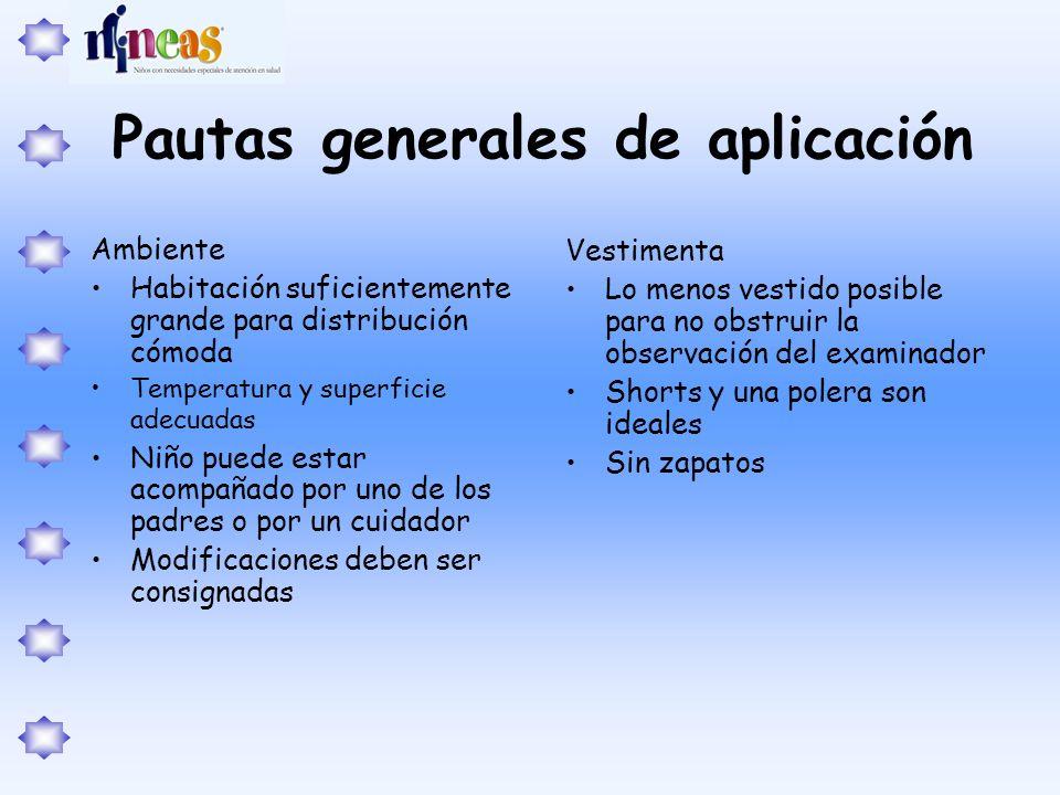 Pautas generales de aplicación