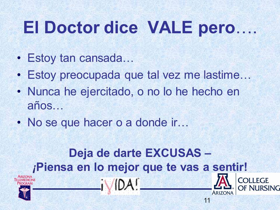 El Doctor dice VALE pero….