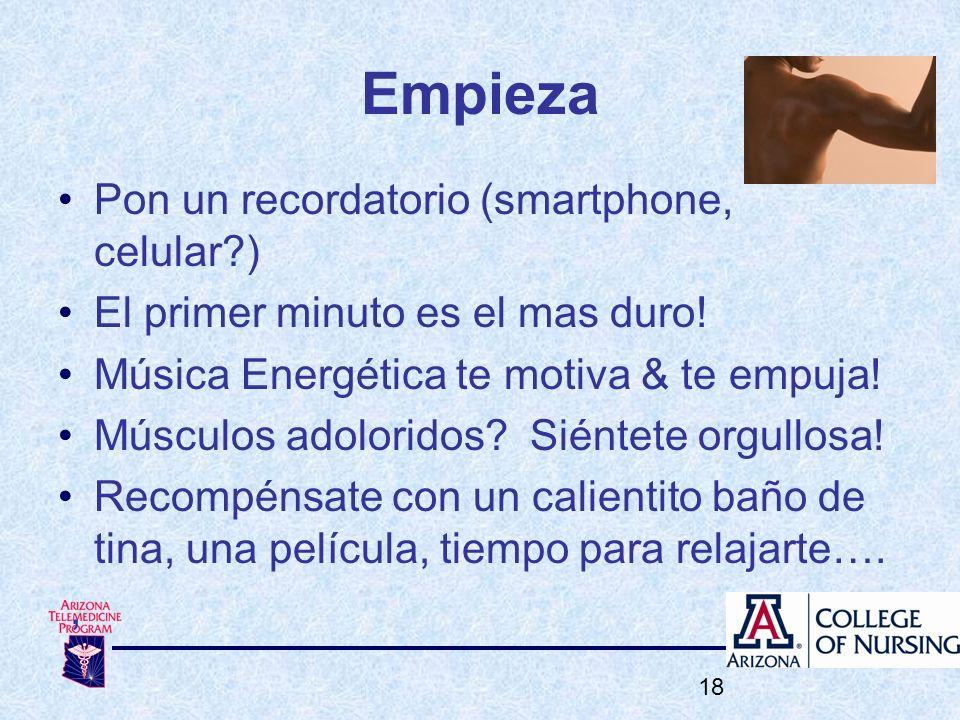 Empieza Pon un recordatorio (smartphone, celular )