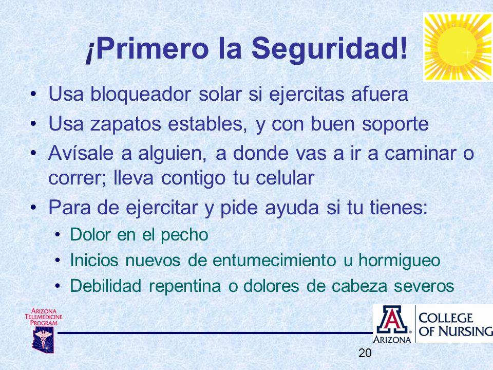 ¡Primero la Seguridad! Usa bloqueador solar si ejercitas afuera
