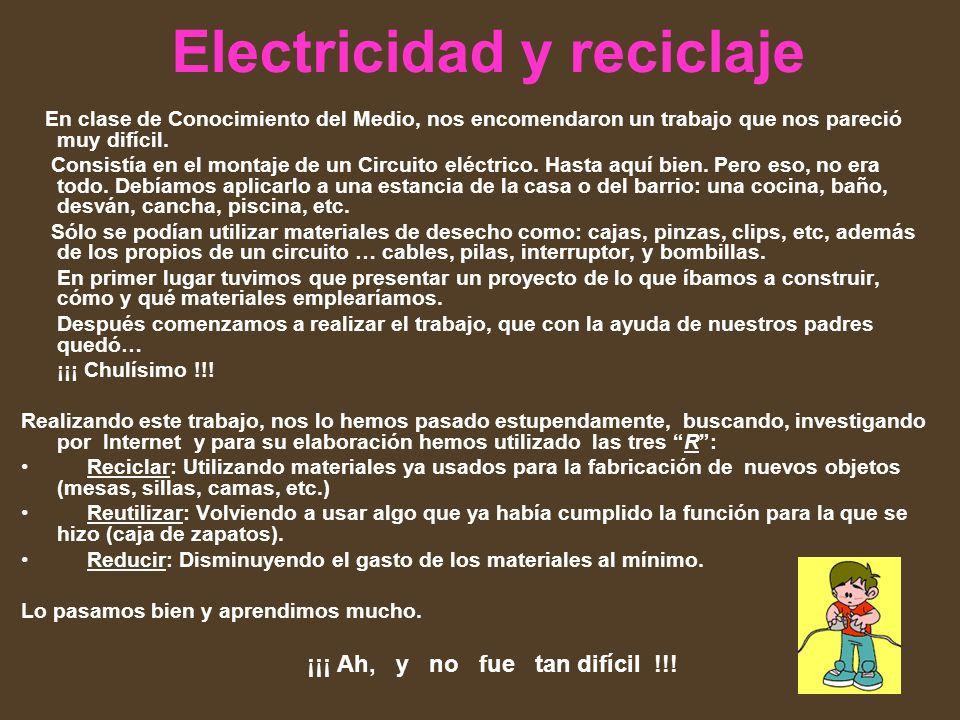 Electricidad y reciclaje