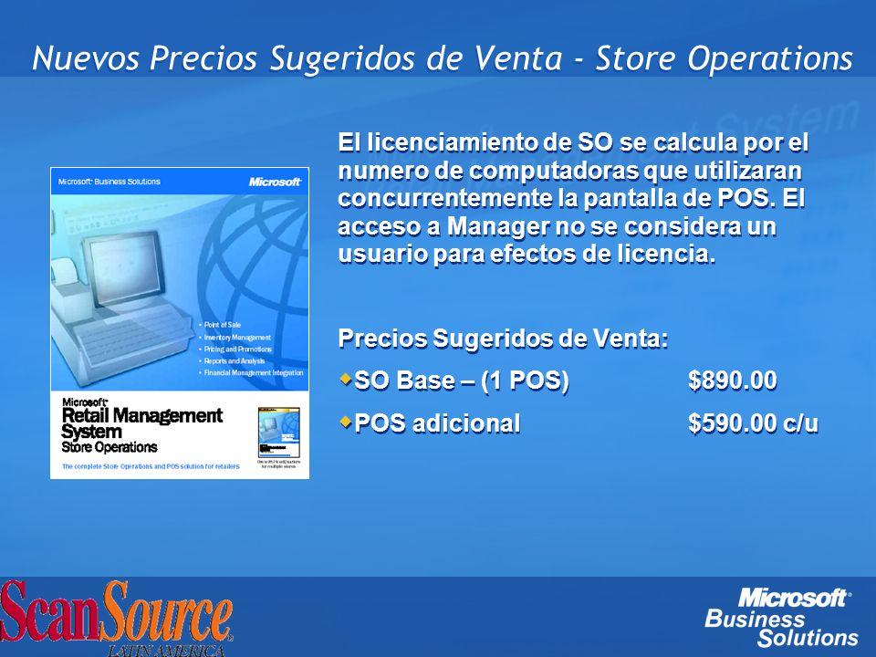 Nuevos Precios Sugeridos de Venta - Store Operations