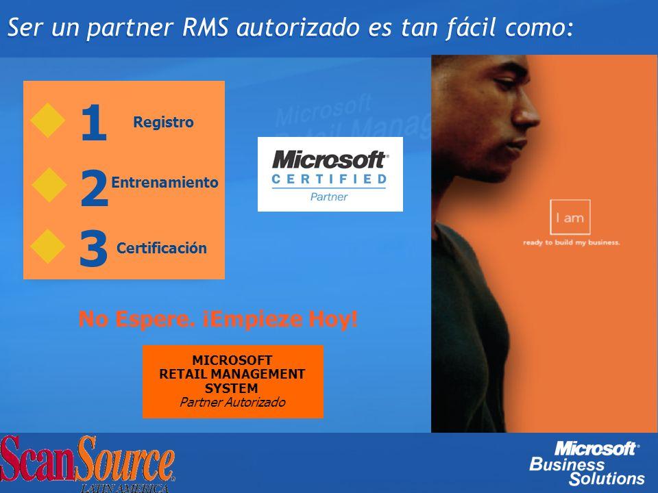 Ser un partner RMS autorizado es tan fácil como: