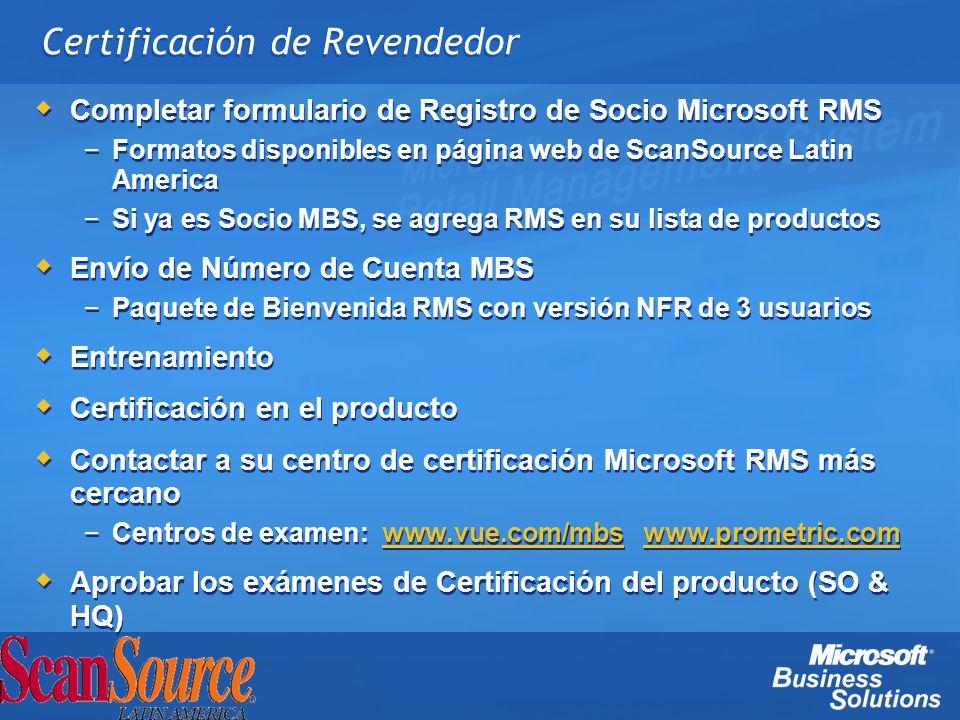 Certificación de Revendedor
