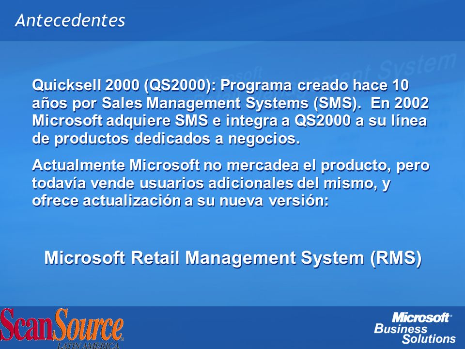 Microsoft Retail Management System (RMS)
