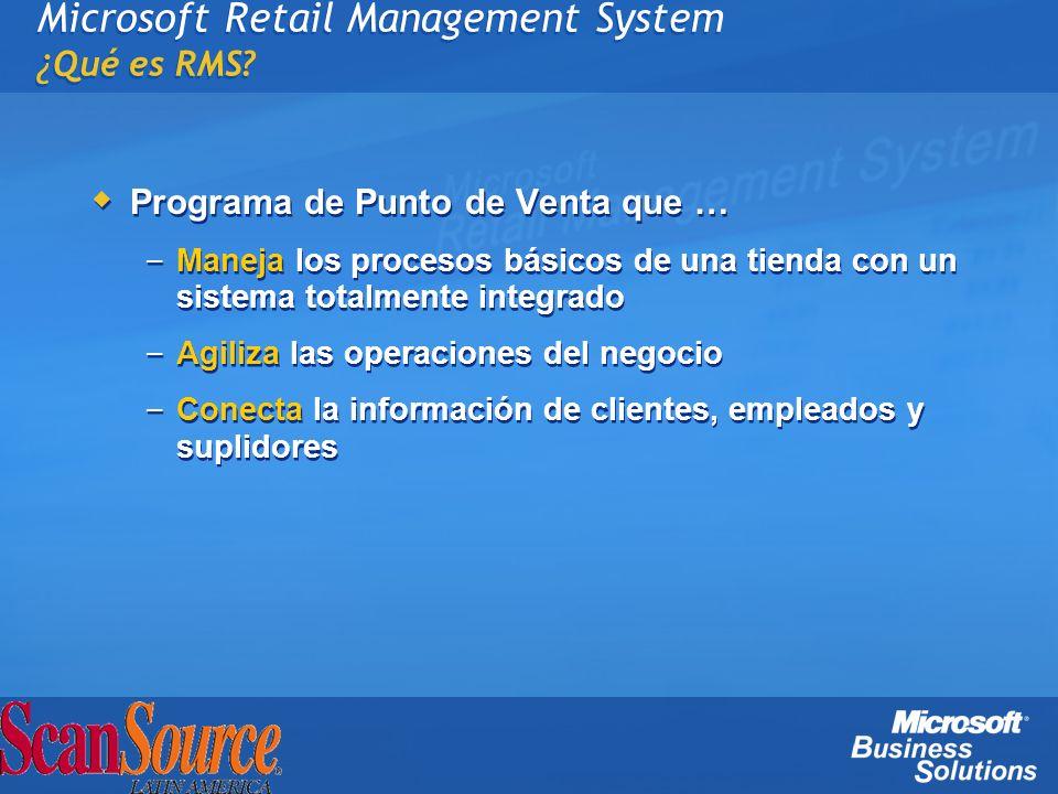 Microsoft Retail Management System ¿Qué es RMS