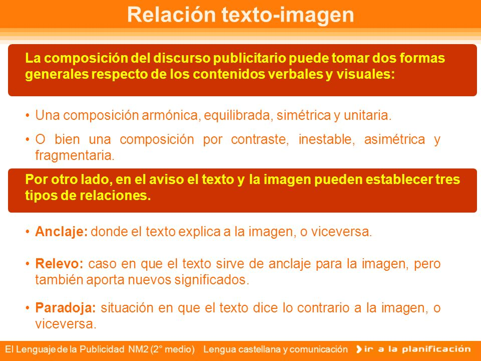 Relación texto-imagen