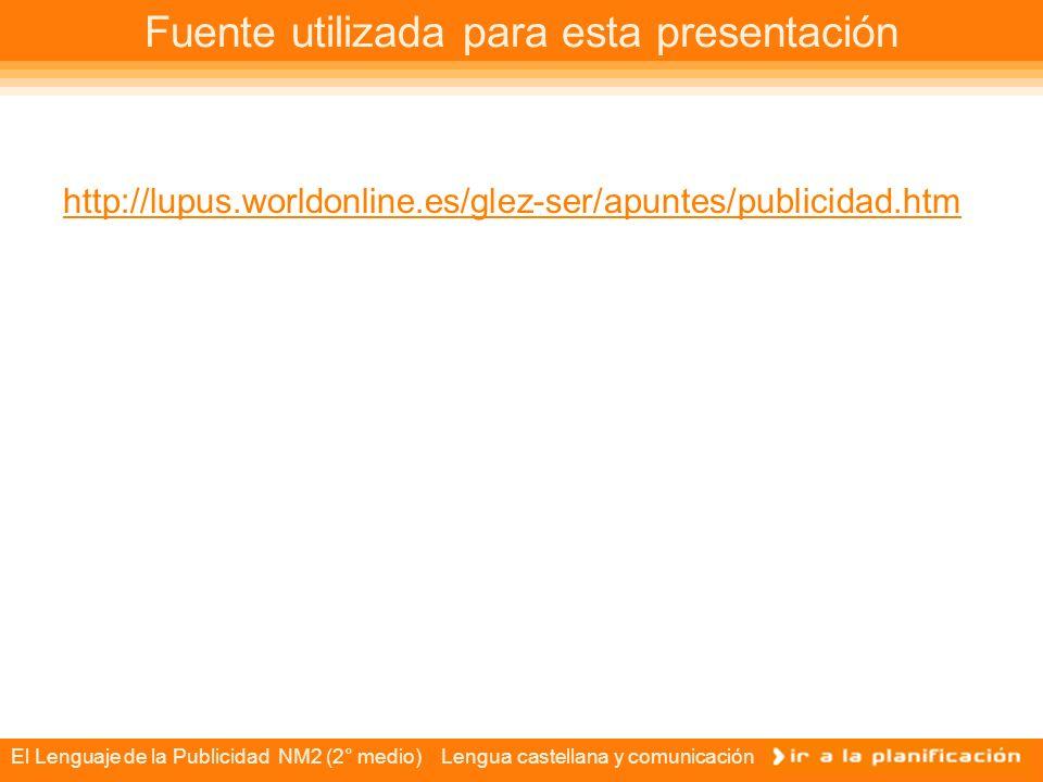 Fuente utilizada para esta presentación