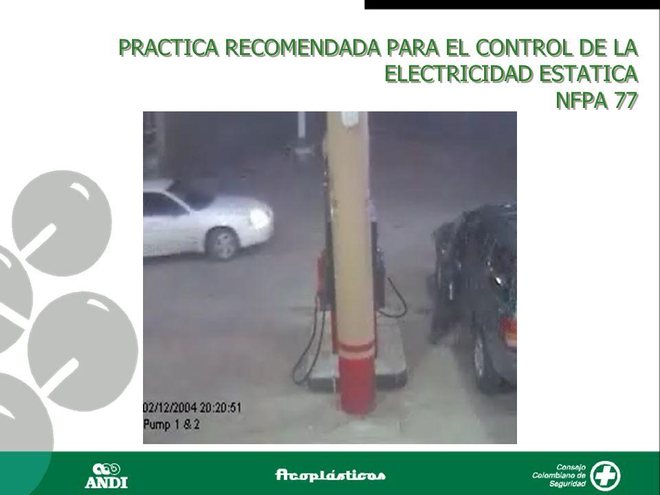 PRACTICA RECOMENDADA PARA EL CONTROL DE LA ELECTRICIDAD ESTATICA NFPA 77