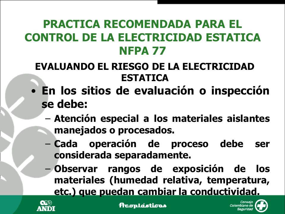 EVALUANDO EL RIESGO DE LA ELECTRICIDAD ESTATICA