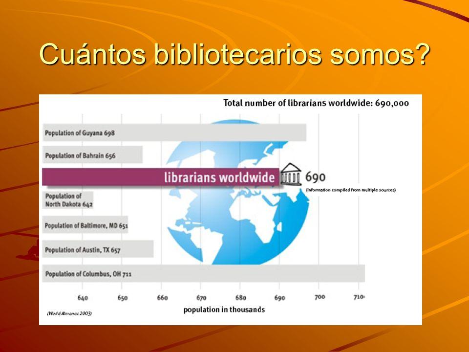 Cuántos bibliotecarios somos