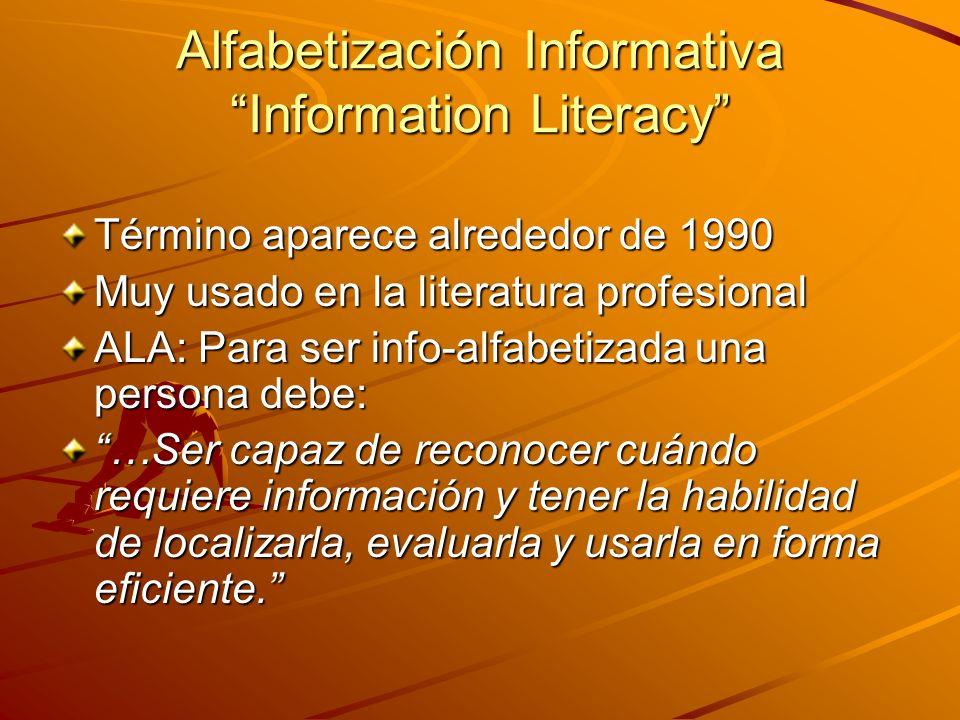 Alfabetización Informativa Information Literacy