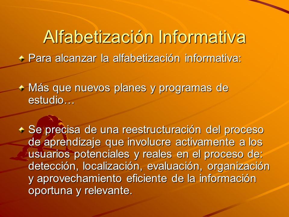 Alfabetización Informativa