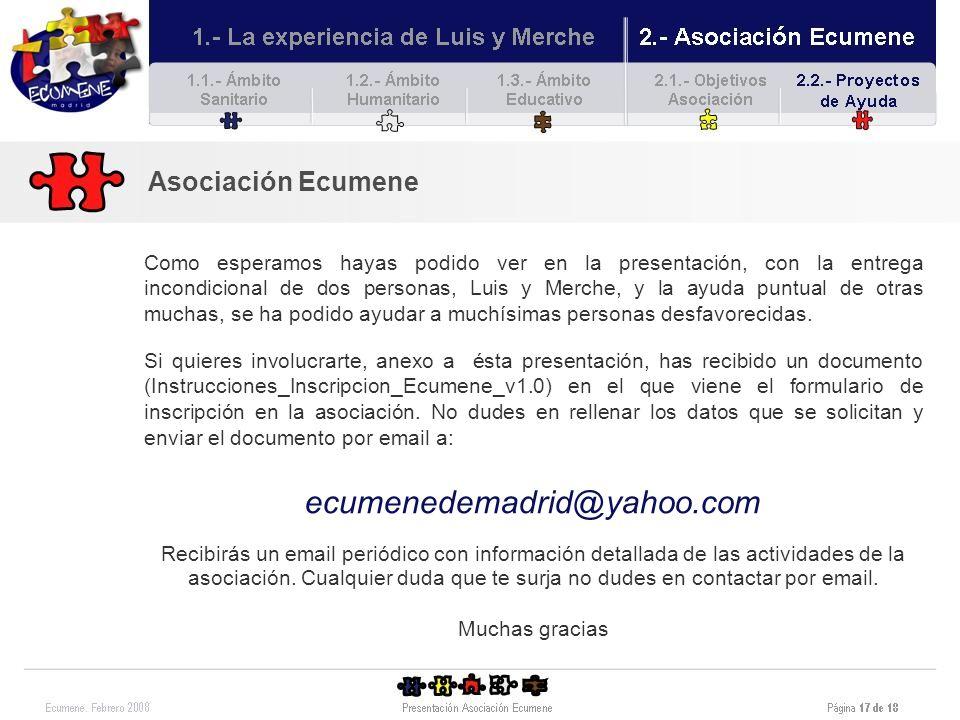 ecumenedemadrid@yahoo.com Asociación Ecumene