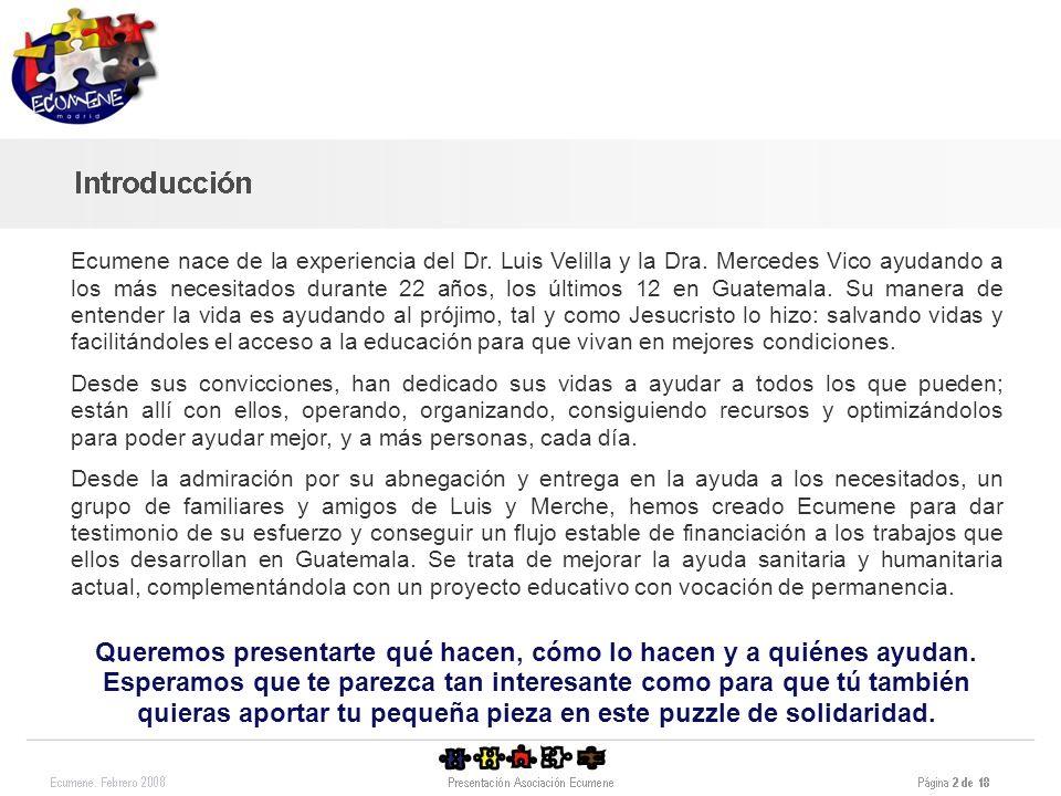 Ecumene nace de la experiencia del Dr. Luis Velilla y la Dra