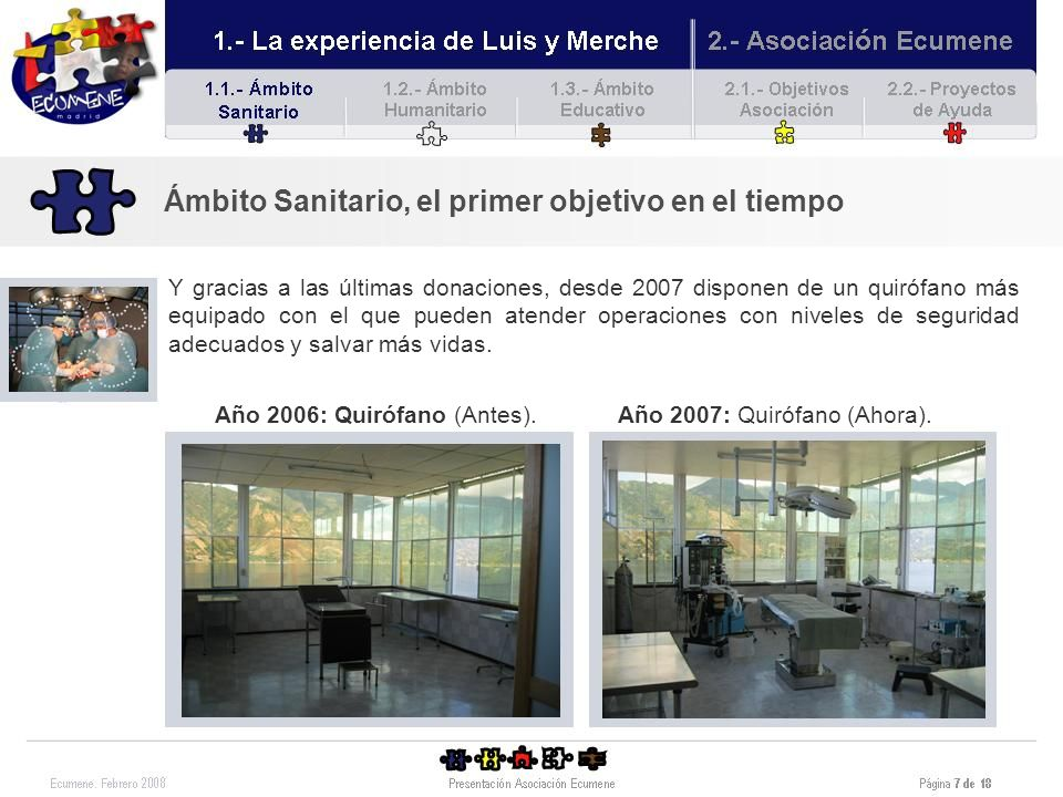 Año 2006: Quirófano (Antes).