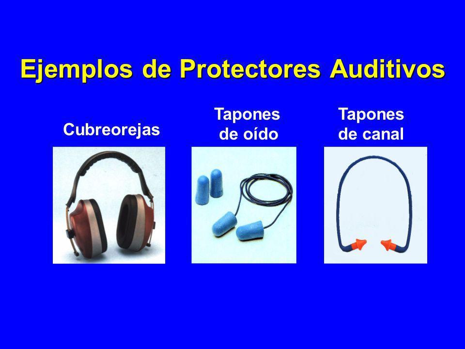 Ejemplos de Protectores Auditivos