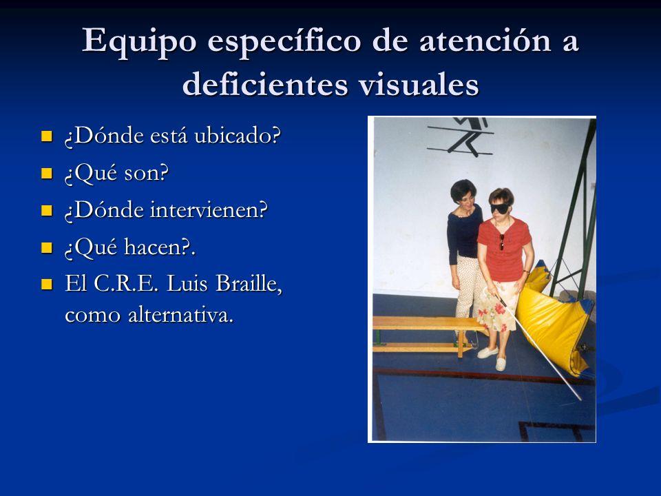 Equipo específico de atención a deficientes visuales
