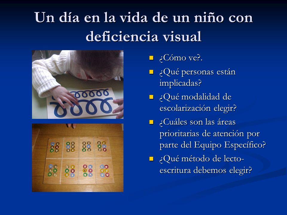 Un día en la vida de un niño con deficiencia visual