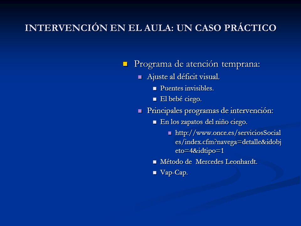 INTERVENCIÓN EN EL AULA: UN CASO PRÁCTICO
