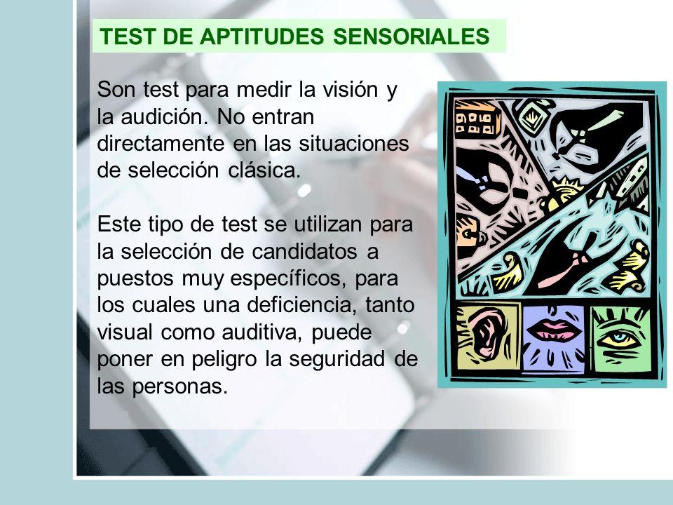 TEST DE APTITUDES SENSORIALES