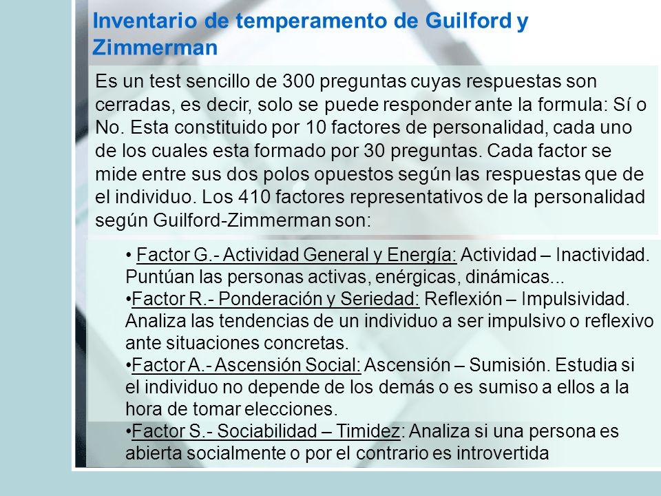 Inventario de temperamento de Guilford y Zimmerman