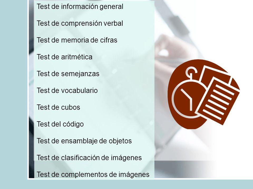 Test de información general