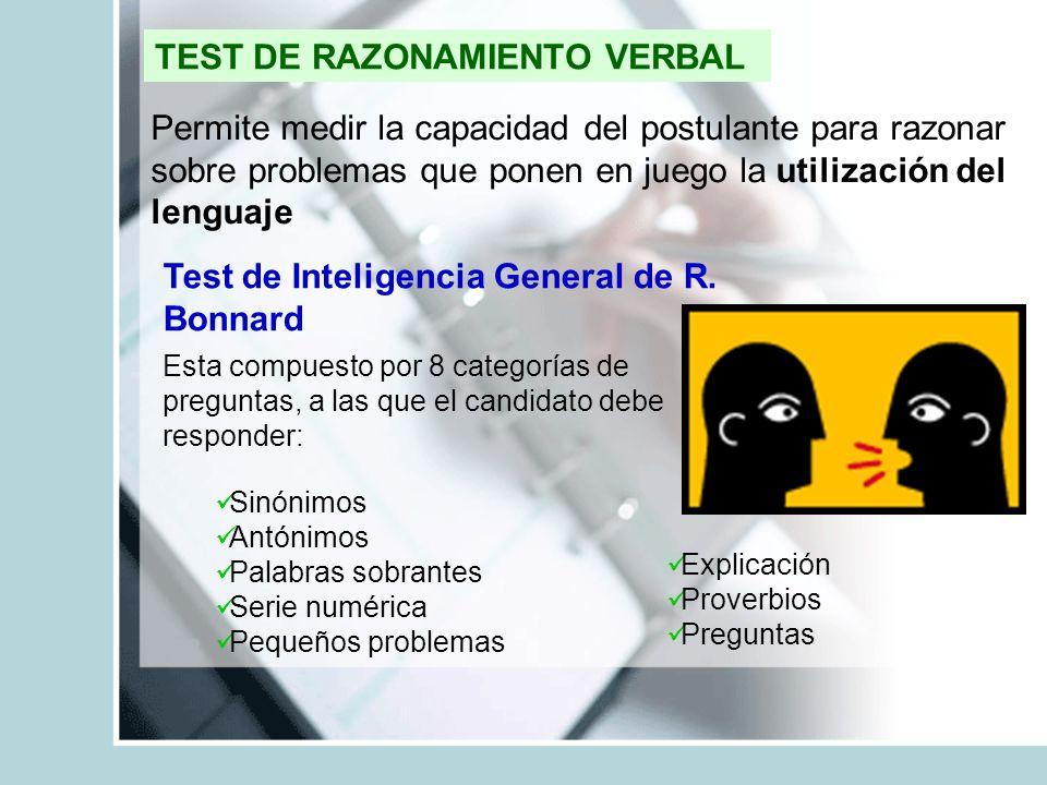 TEST DE RAZONAMIENTO VERBAL