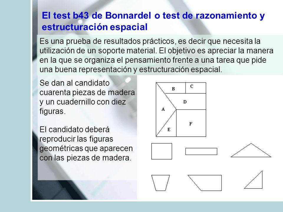 El test b43 de Bonnardel o test de razonamiento y estructuración espacial