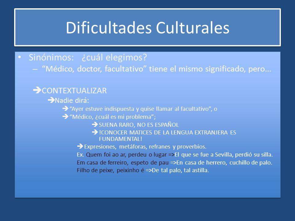 Dificultades Culturales