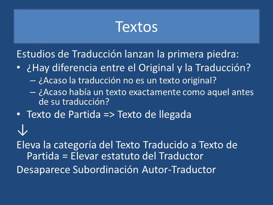 Textos ↓ Estudios de Traducción lanzan la primera piedra: