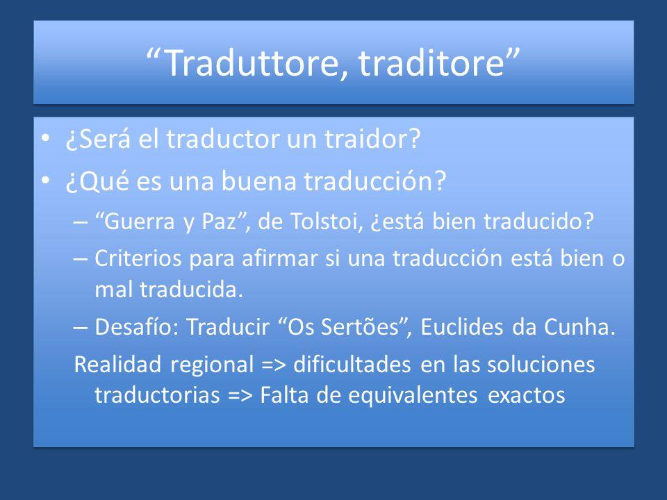 Traduttore, traditore