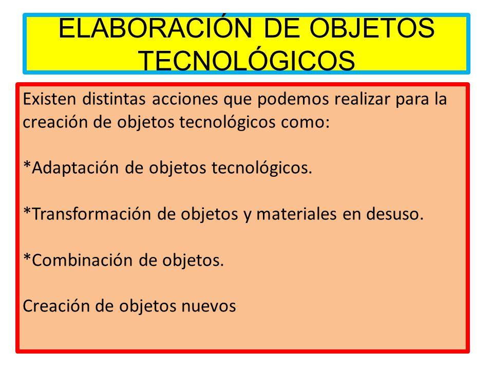 ELABORACIÓN DE OBJETOS TECNOLÓGICOS