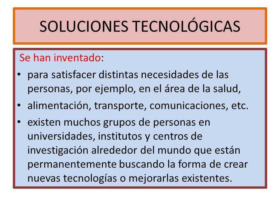 SOLUCIONES TECNOLÓGICAS