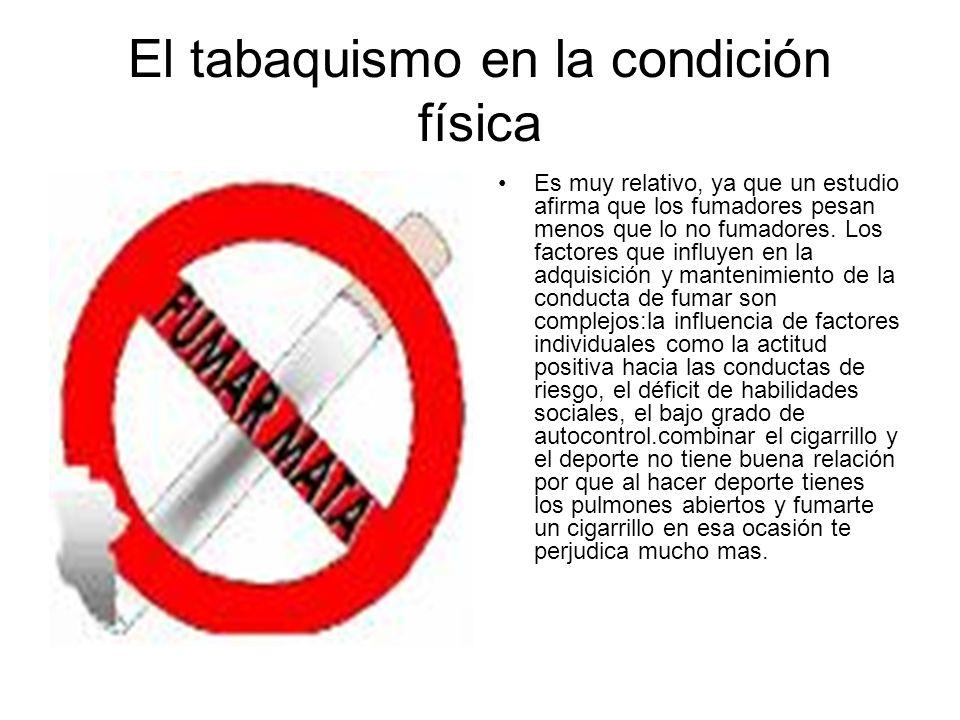 El tabaquismo en la condición física