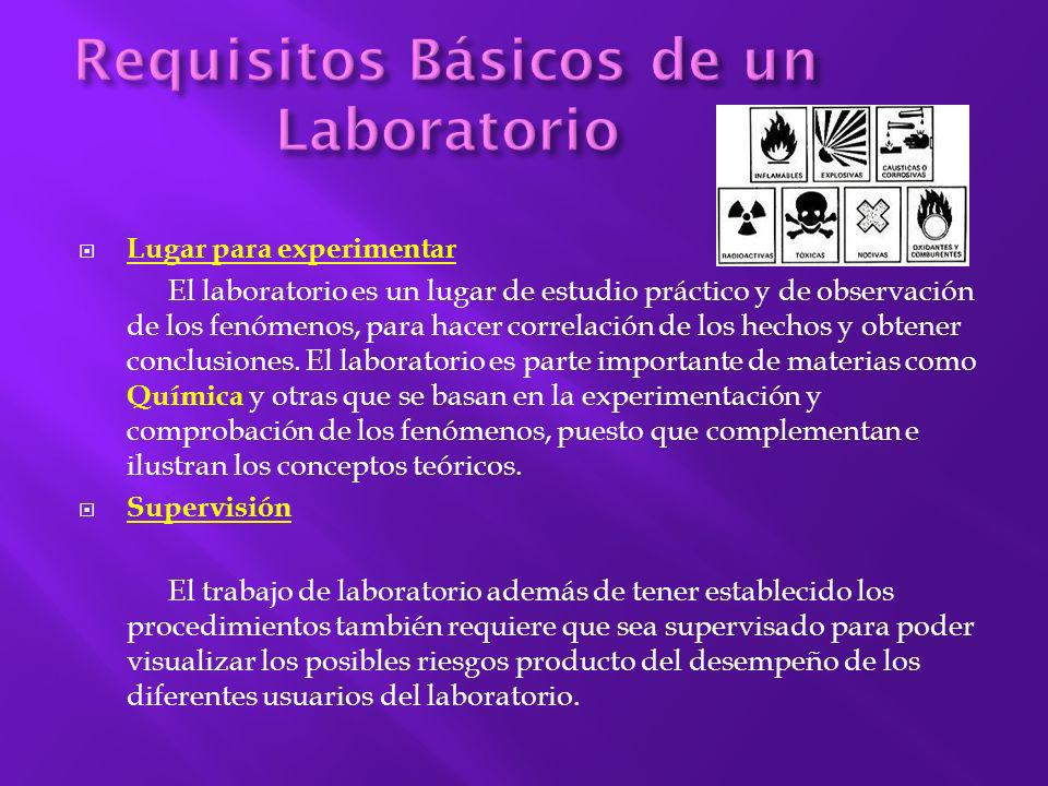 Requisitos Básicos de un Laboratorio