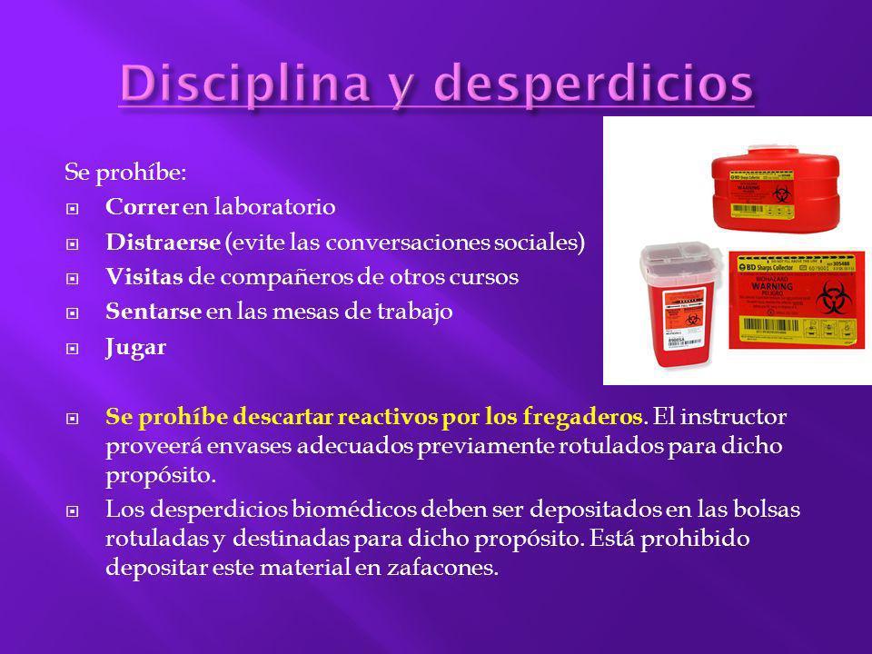 Disciplina y desperdicios